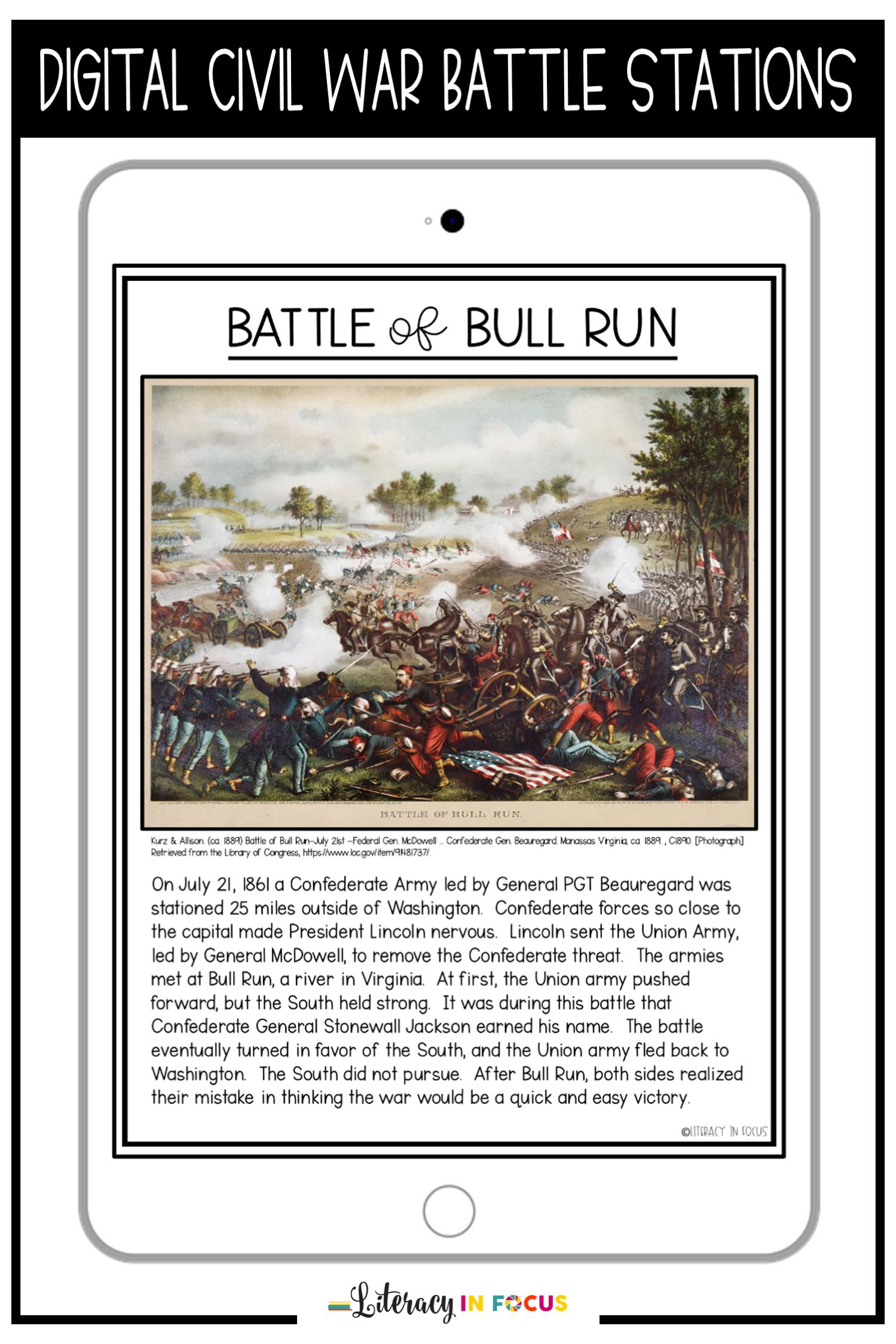 Civil War Battles Activity In