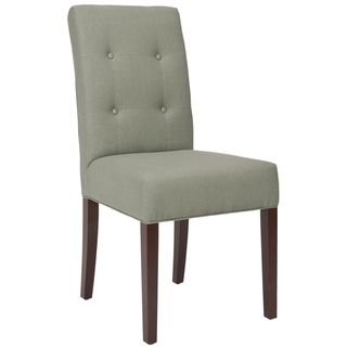 Safavieh Metro Tufted Grey Linen Side Chairs (Set of 2)   Overstock.com Shopping - The Best Deals on Dining Chairs