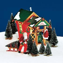 Department 56 Products Nick S Tree Farm View Lighted Buildings Dept 56 Snow Village Snow Village Department 56 Christmas Village