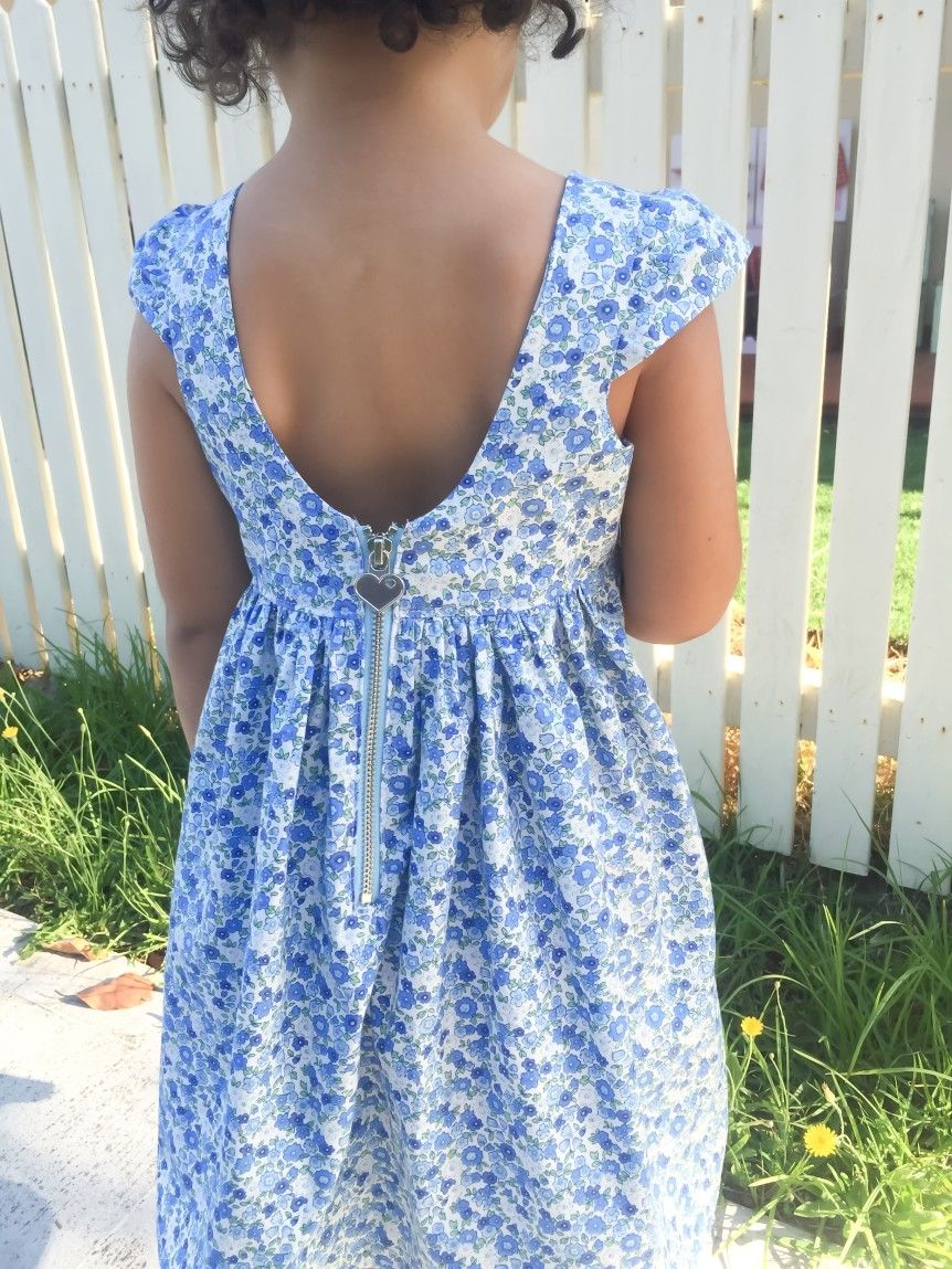 Pattern hack: Tadah pattern tea party dress with scoop back cap ...