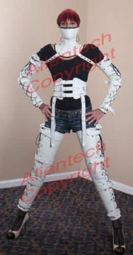 Leather Leg Binder, Armbinder, Neck Corset And Belt 3 Colors