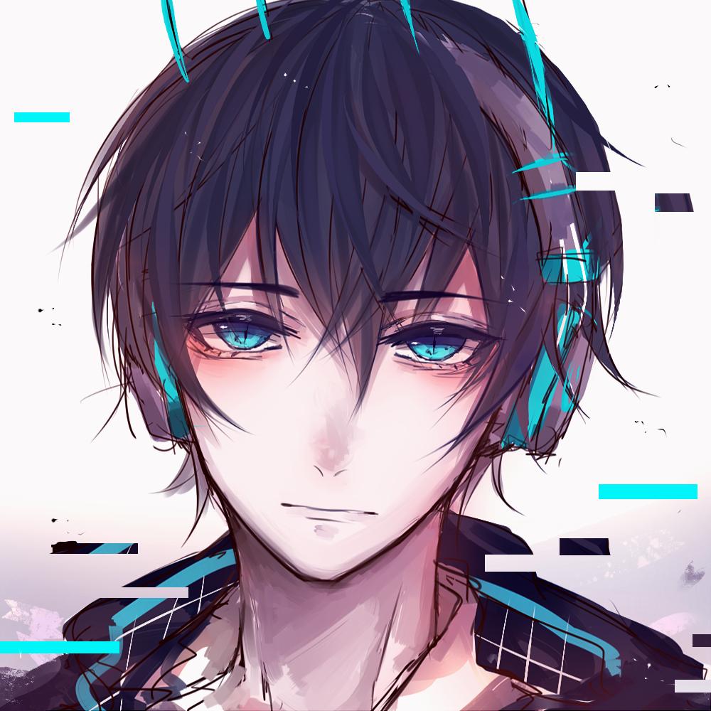 Papi Isnt Dead By Qwerhellur Anime Guy Blue Hair Anime Guys Anime Boy With Headphones