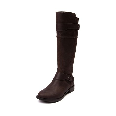 I love these boots!!! Saddle up for crisp autumn weather, turning leaves, and pumpkin patches with the new Dayle Tall Riding Boot from UGG®. The Dayle Boot flaunts a tall, riding boot design with vintage leather uppers, fixed boot straps, and soft textile lining with fleece lined footbed for comfort and warmth.
