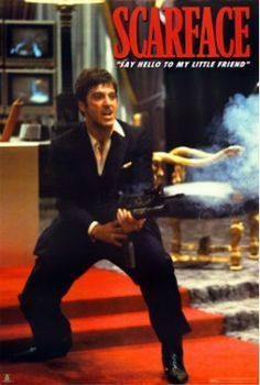 Scarface Say Hello To My Little Friend Flm00066 39x54 All Film