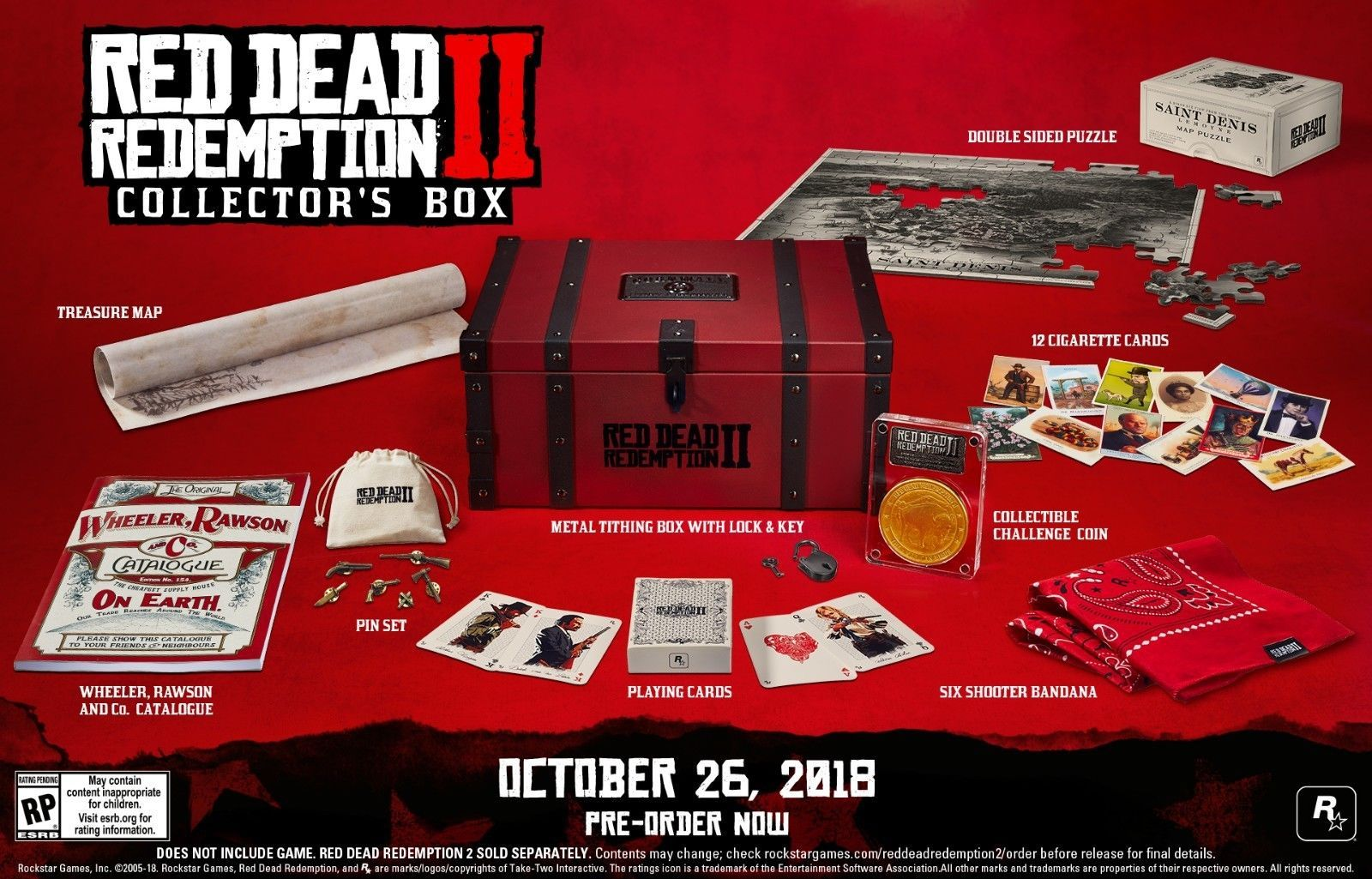 Rdr2 Red Dead Redemption 2 Collector S Edition Box Red Dead Redemption Red Dead Redemption Ii Redemption