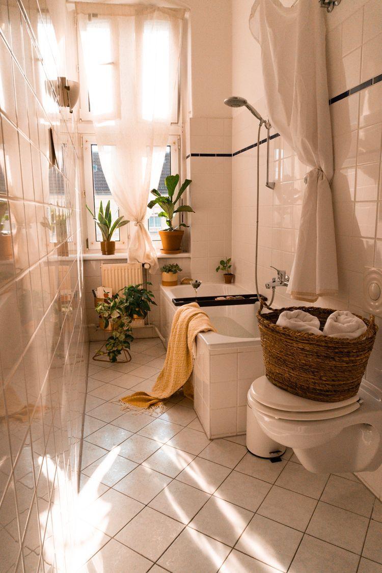 Scandinavian bathroom   boho   Bathroom tile inspiration ...