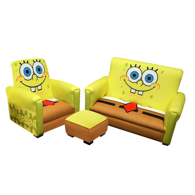 Nickelodeon Deluxe Toddler Sofa Chair And Ottoman Set Sponge Bob By Newco International New 15380 8736 4 Used New From The Most Wished For In Furniture Sets