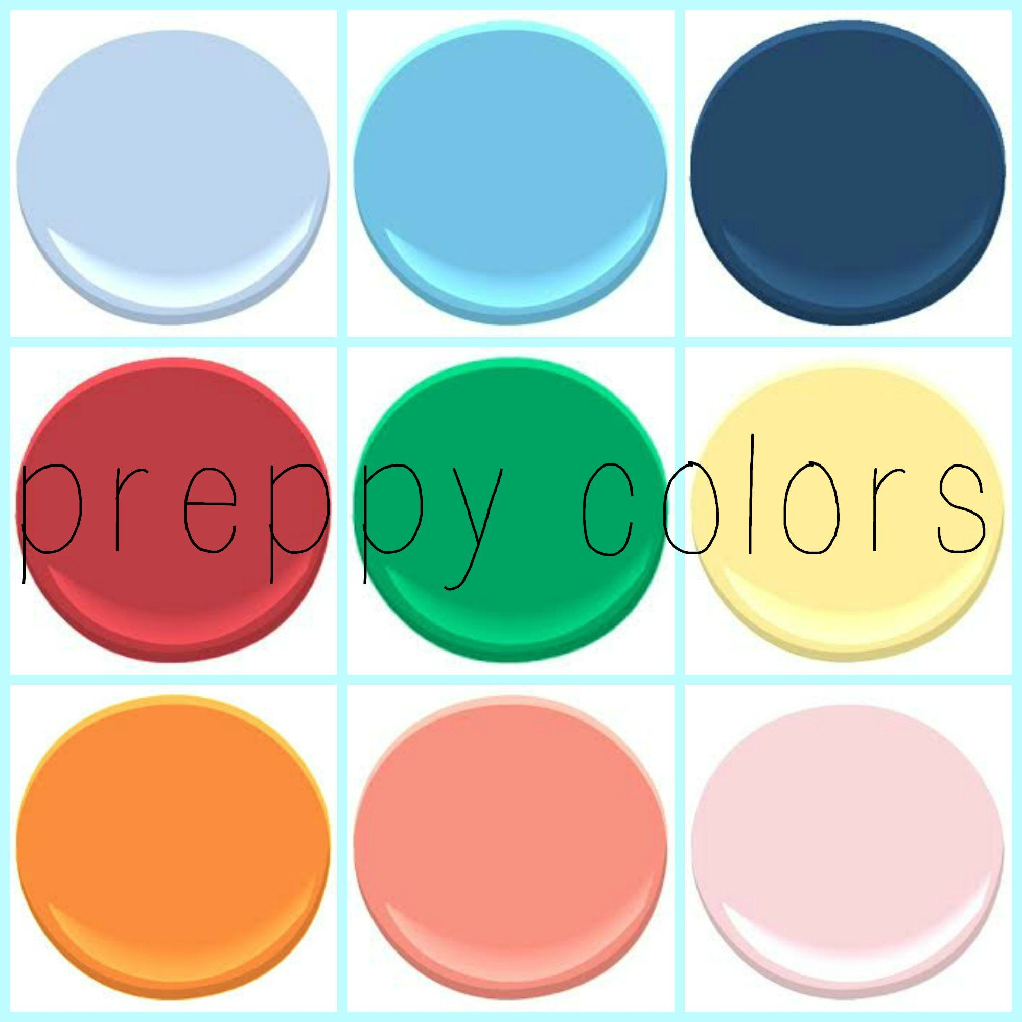 preppy colors - any direction you go, these colors compliment each ...