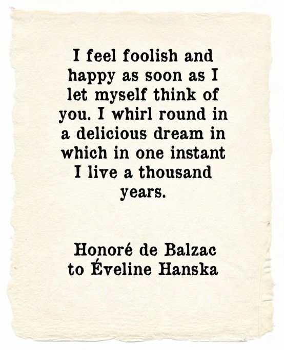 A Love Letter From Honor De Balzac To veline Hanska  Love