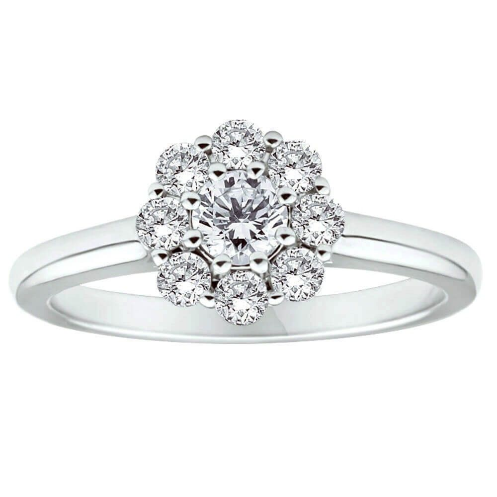 Flawless Cut Diamond Engagement Ring in 18ct Gold (TW=50pt) image-a