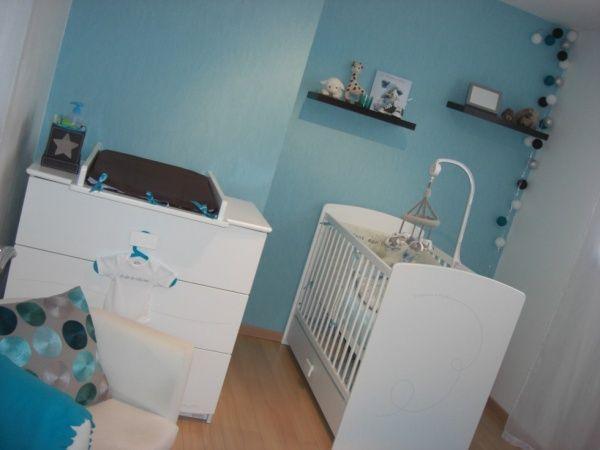 chambre bebe marron blanc et bleu - Recherche Google | idée chambre ...