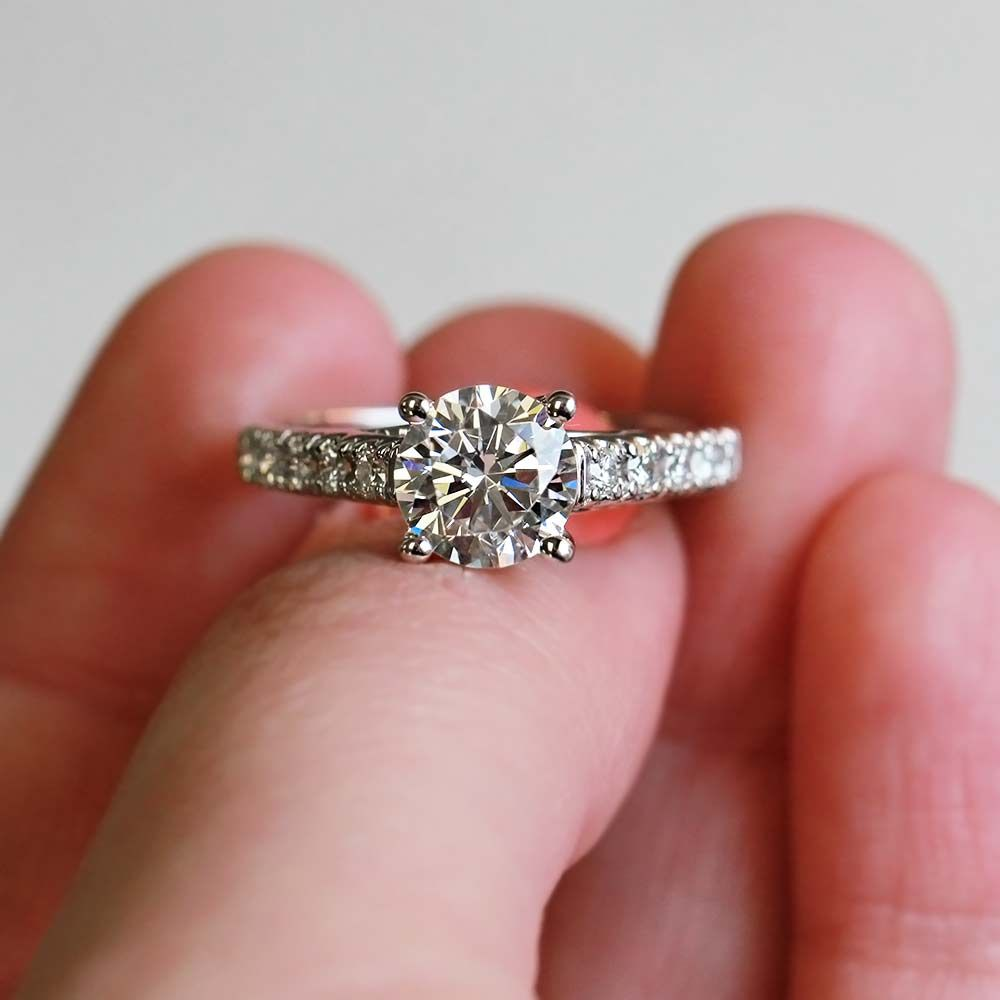 Crimson Accented Engagement Ring | jewelry | Pinterest | Classic ...