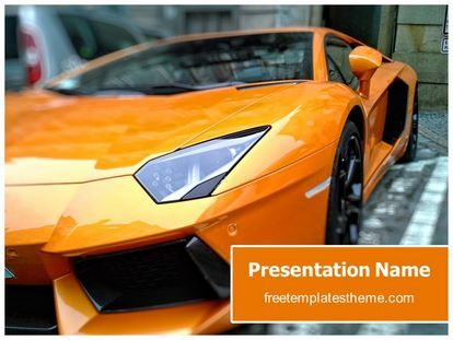 Get This Free Sports Car Powerpoint Template With Different