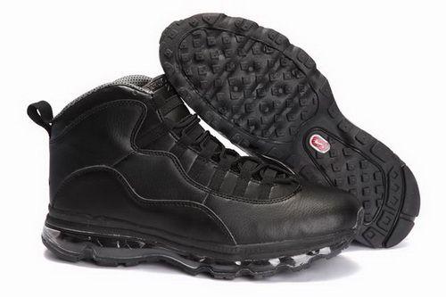 3b00d8da54 ... discount all black mens shoes nike jordan 10 air max fusion for cheap  http