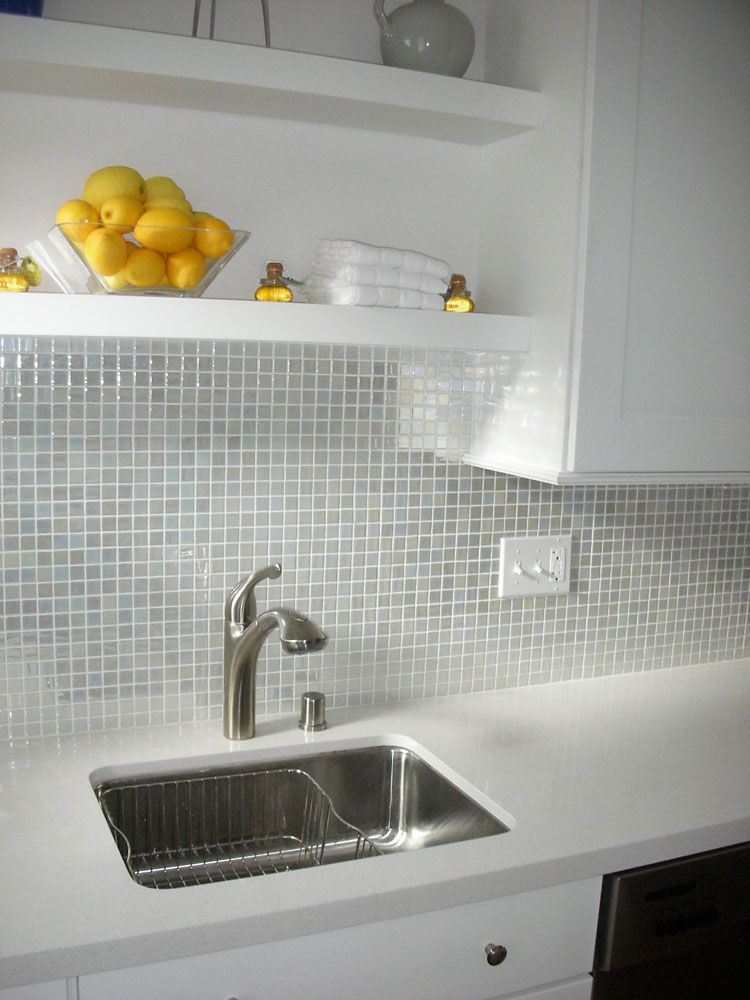 Kitchen Backsplash tile including glass mosaic tile backsplash