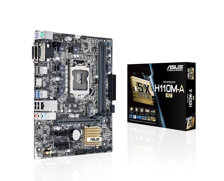 Amazoncom Asus Lga1151 Ddr4 M2 Hdmi Dvi Usb30 H110 Microatx Asrock Motherboard H110m Hdv Socket 1151