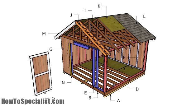 12x12 Gable Shed Roof Plans Howtospecialist How To Build Step By Step Diy Plans Diy Shed Plans Shed Plans Shed Storage