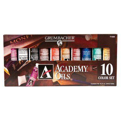 Grumbacher Academy Oil Paint, Set of 10 Colors - http://www.specialdaysgift.com/grumbacher-academy-oil-paint-set-of-10-colors/