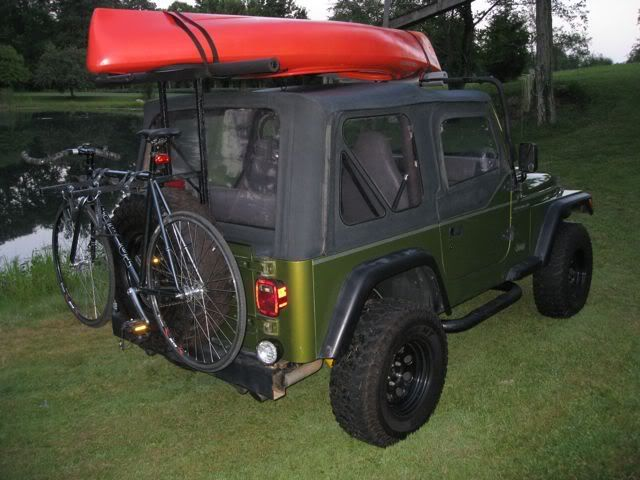Homemade Kayak Bike Rack Finally Finished Jeep Wrangler Forum Diy Bike Rack Jeep Kayak Rack Diy