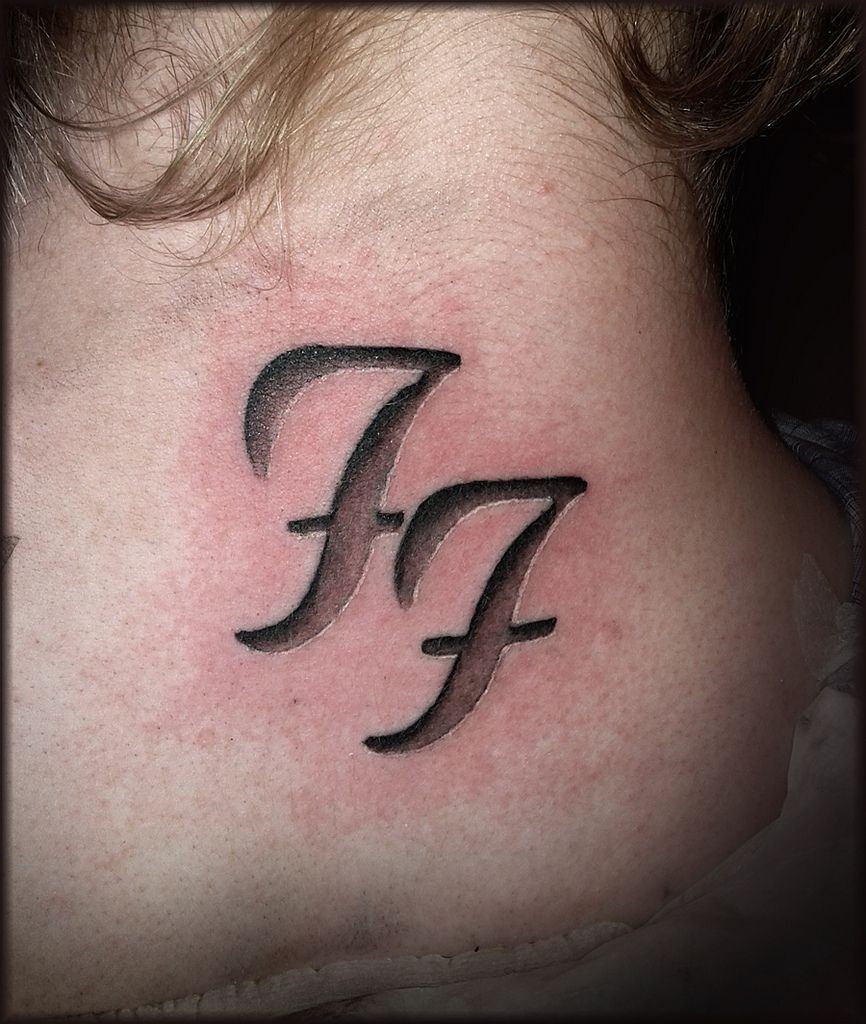 foo fighters tattoo i thought about having this on the side of the heel on my foot but slightly. Black Bedroom Furniture Sets. Home Design Ideas