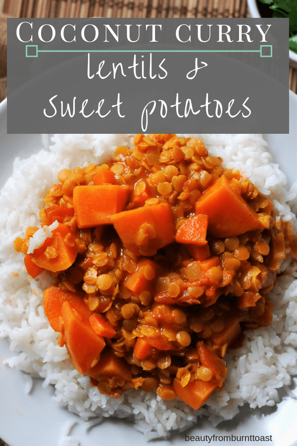 Coconut Curry Lentils And Sweet Potatoes