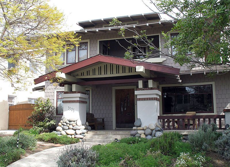 Common Architectural Design Features Craftsman Style House Low Pitched Roof Lines Gabled Or Hip Craftsman Style Homes Craftsman Exterior Craftsman Style