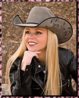 Wild Horses on Dove Gray Hat Neon Cowgirls Hats Jody ...