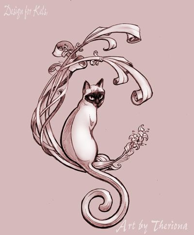Nouveau Design Tattoo Temporary Tattoo This Arm Band Tattoo Image Is A Black Art Nouveau Tattoo Art Nouveau Cat Nouveau Tattoo