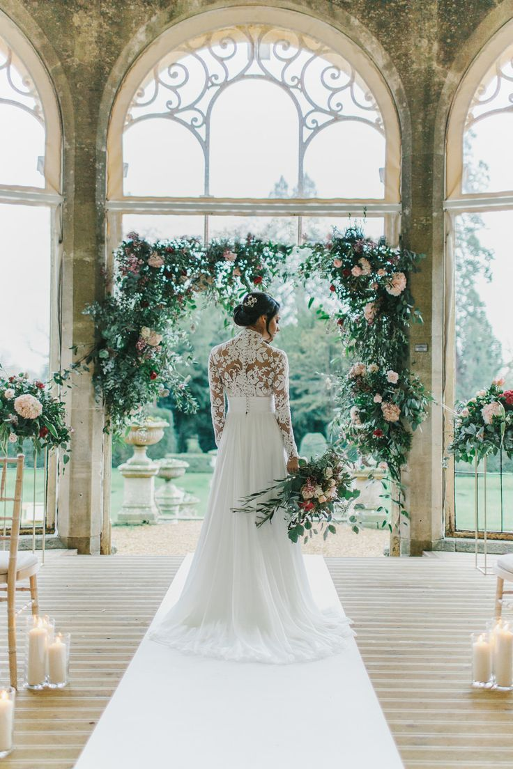 Fairytale Wedding Inspiration with Blush & Burgundy Wedding Flowers