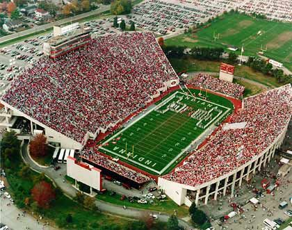 Indiana University Football Stadium Football Stadiums Indiana Indiana Hoosiers