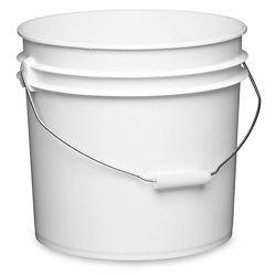 Plastic Pail 3 5 Gallon White S 9942w Plastic Pail Plastic Buckets Pail