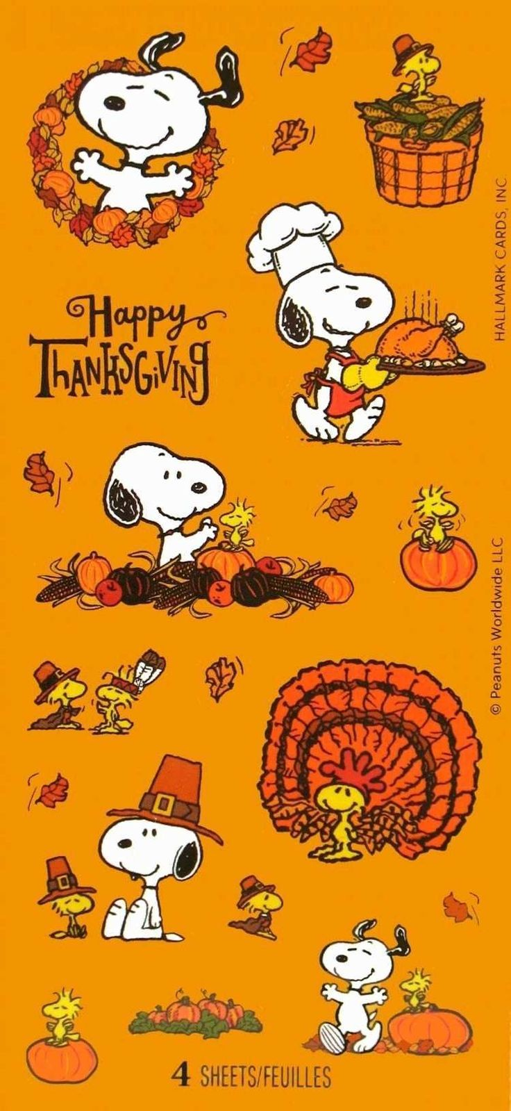 "Snoopy ""Happy Thanksgiving"" Aufkleber #halloweenbackgroundswallpapers"