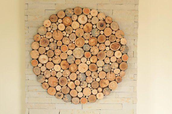 Round Wall Hanging Decor Tree Slices Wall Art Wooden Wall Etsy In 2021 Wood Slices Tree Wall Art Hanging Wall Decor