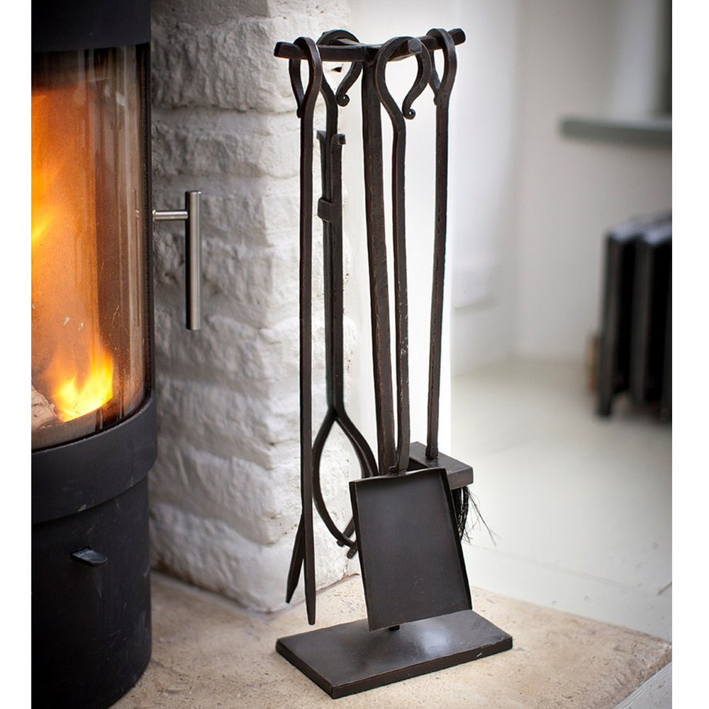 Forged Fireside Tools Set Of 4 Fireplace Accessories Fireplace Tool Set Wrought