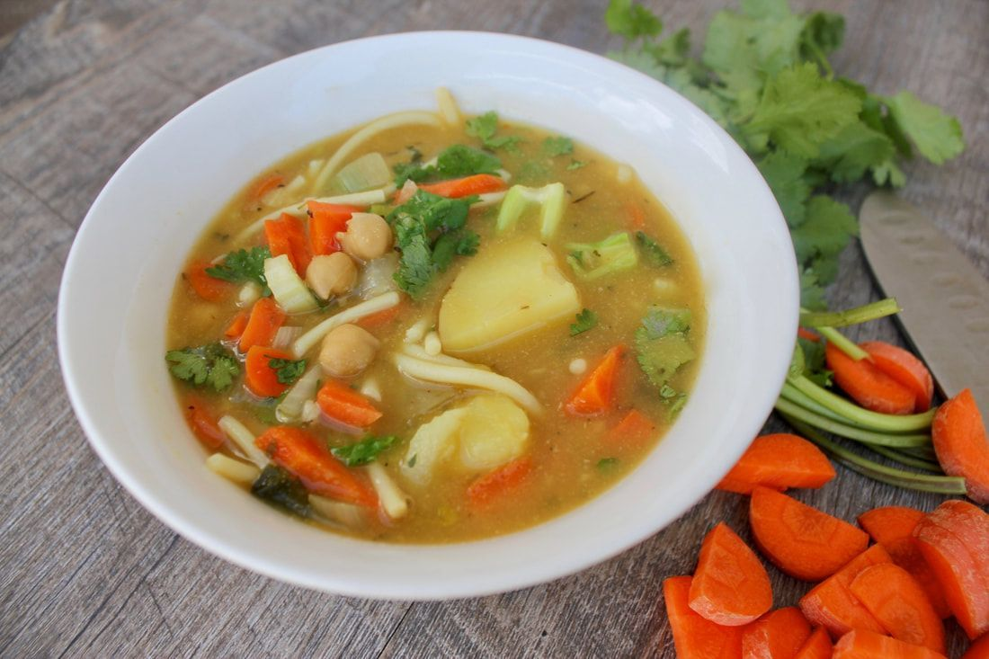 Chickpea Noodle Soup - The Food Pharmacy #chickpeanoodlesoup Chickpea Noodle Soup - The Food Pharmacy #chickpeanoodlesoup