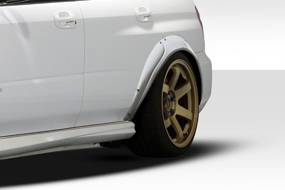 04 07 Subaru Impreza Rally Duraflex Rear Fender Flares 112758