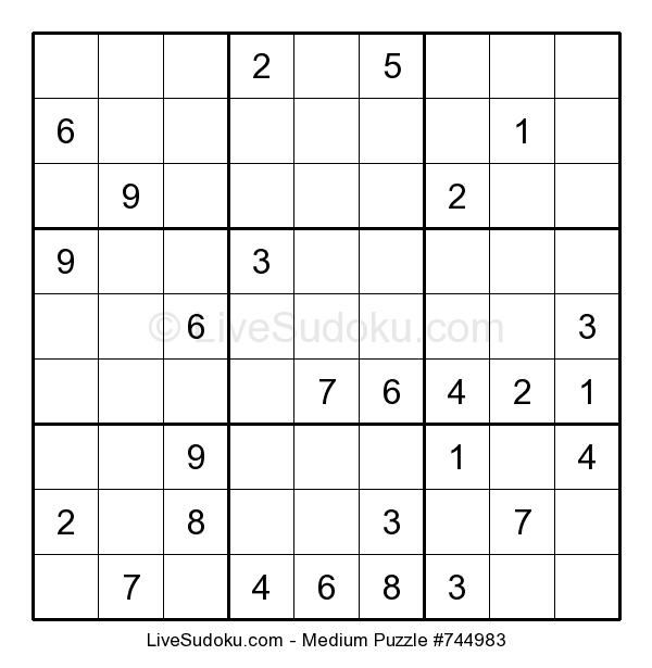 Printable Medium Sudoku Sudoku Puzzles Pinterest