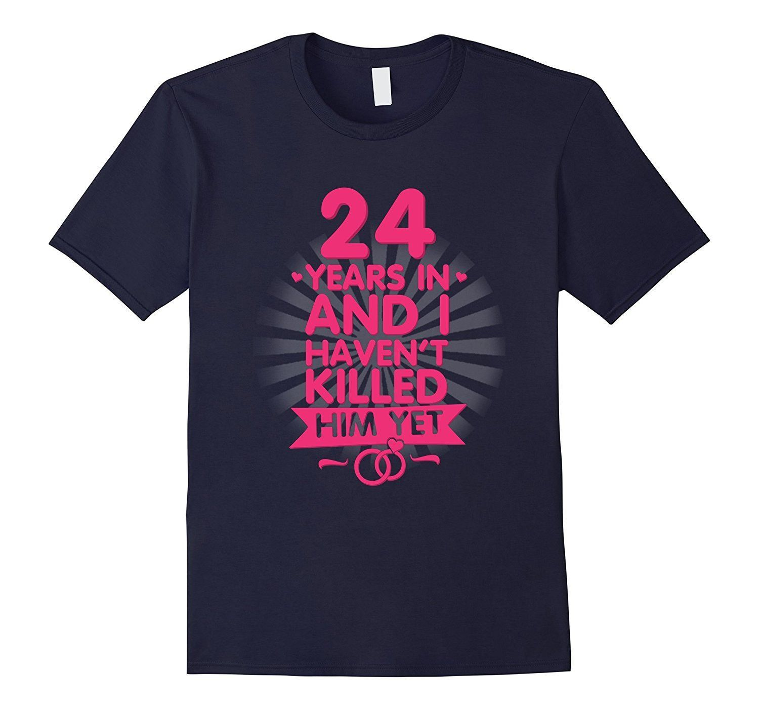 24 Years of Marriage T shirt. 24th Anniversary Gift for