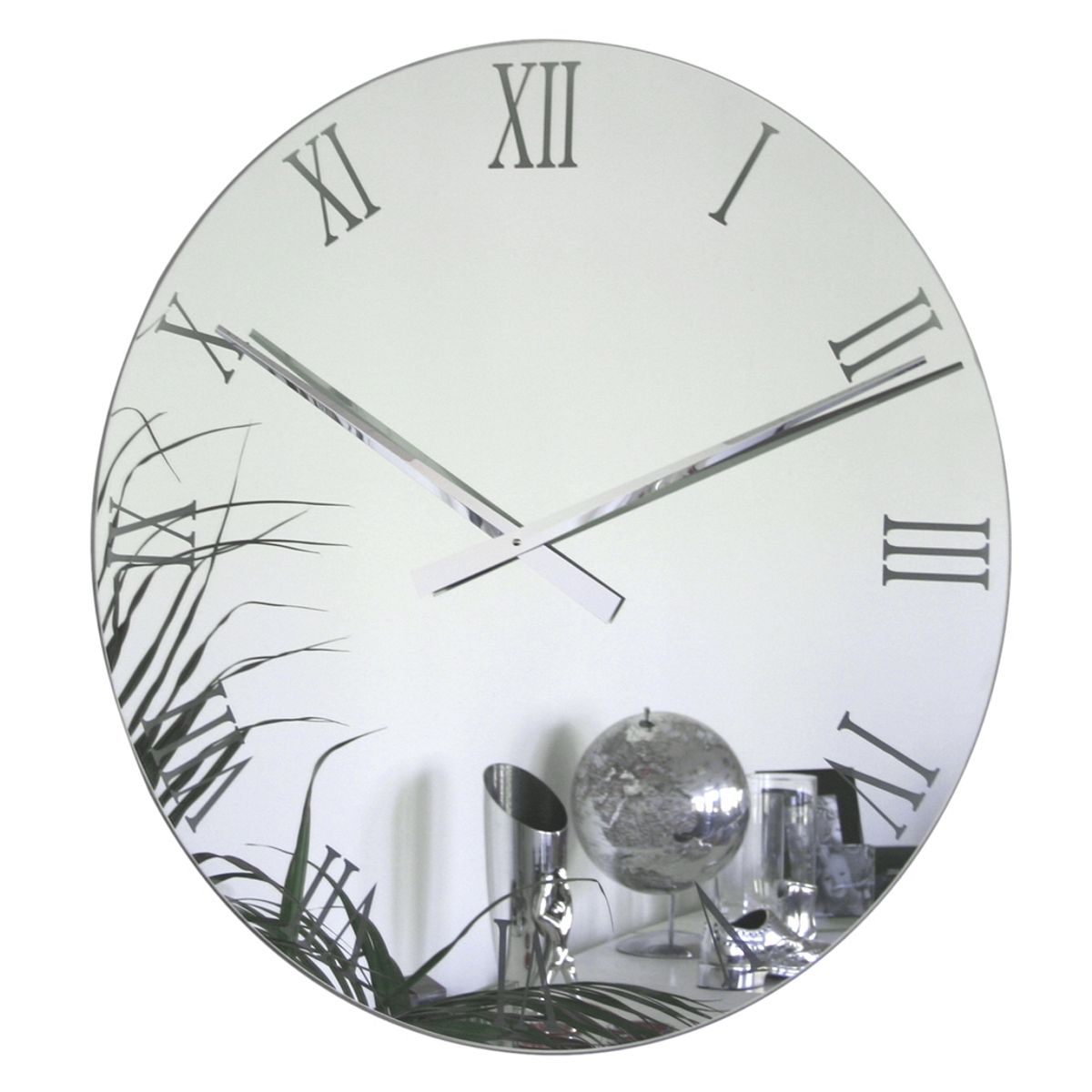56cm Diameter Rocco Verre Mirror Wall Clock Mirror Wall