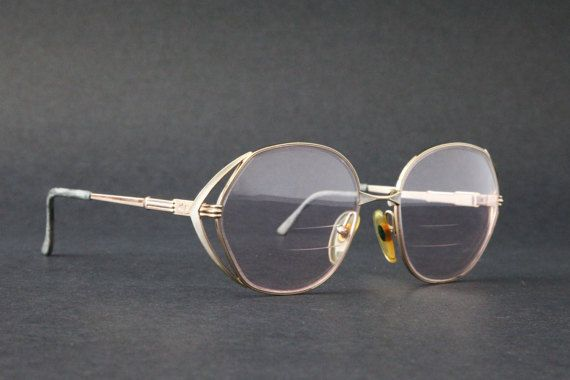 Vintage CHRISTIAN DIOR CD Womens Rx glasses Gold Over Sized Frame ...
