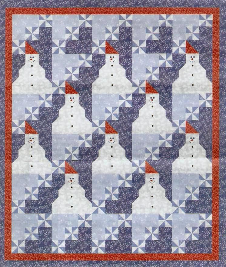 Quilt Inspiration: Free pattern download for Snow Days by A.E. ... : snow quilt - Adamdwight.com