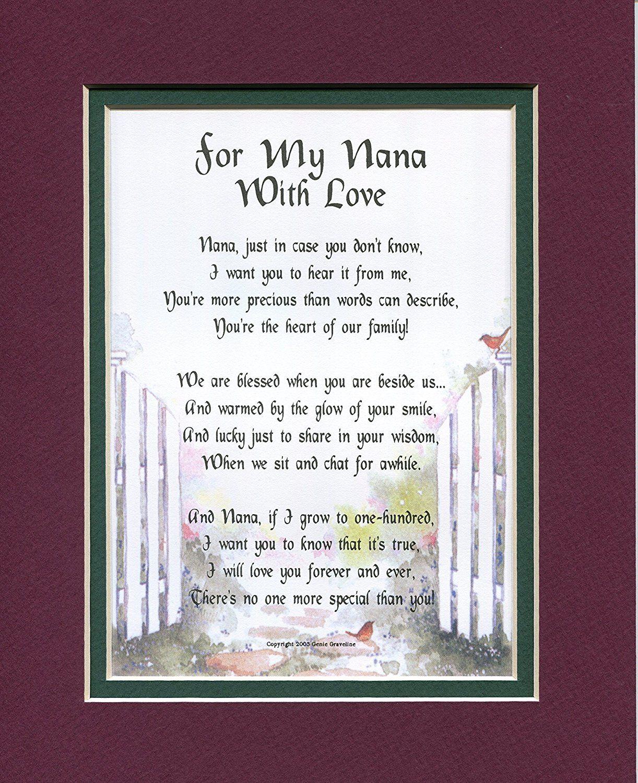 A 50th 60th 70th 80th Birthday Gift Present Poem For Nana