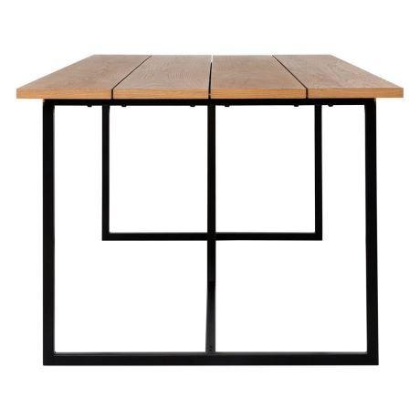 ATELIER 200x90cm Dining Table, Black & Oak