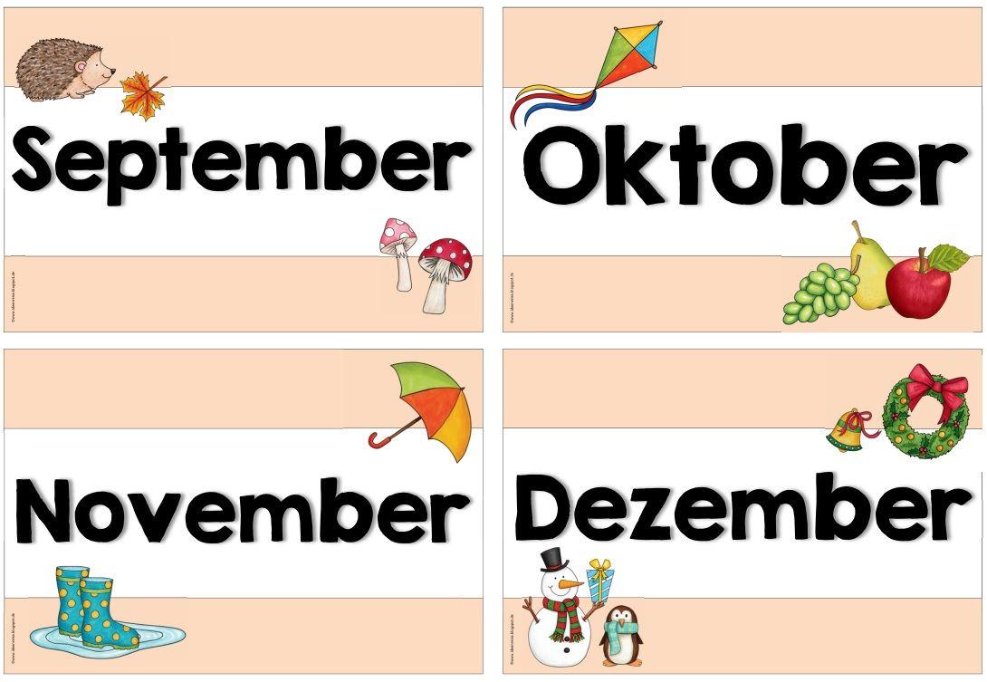 Monatskarten Variante Heute Gibt Es Noch Eine Variante Der Monatskarten Fur Den Kalender Beim Monat D Grundschule Geburtstagskalender Kindergarten Lernen