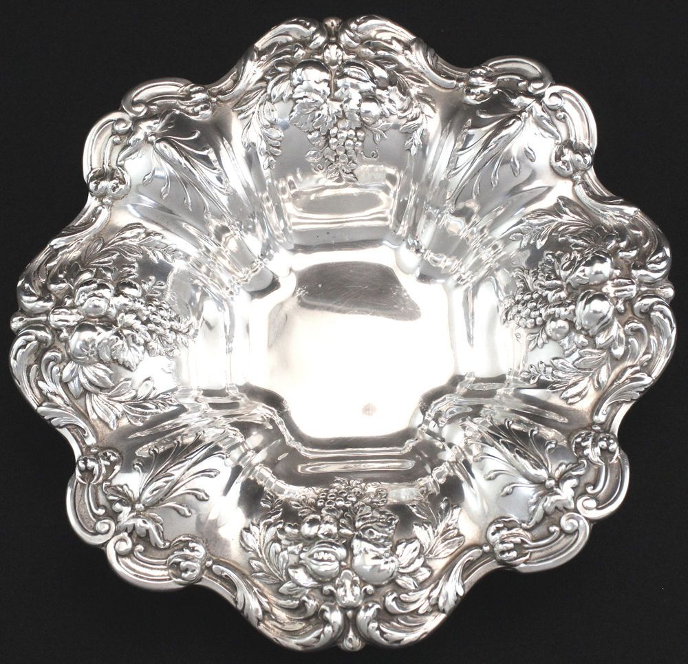 Reed & Barton Francis I Footed Candy Dish in Sterling Silver c1955