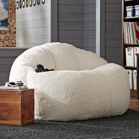 Ivory Sherpa Faux Fur Cloud Couch PBteen I need this for my