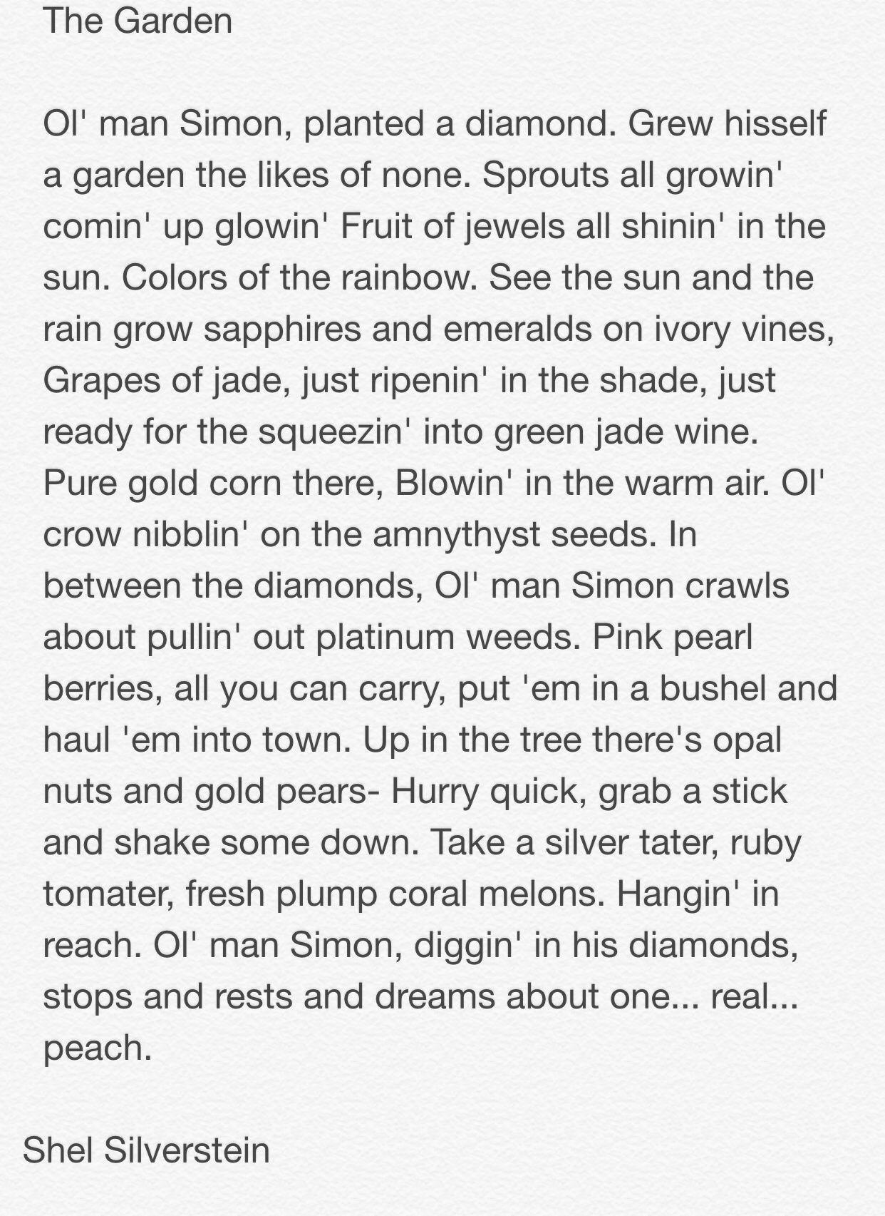 The Garden Shel Silverstein