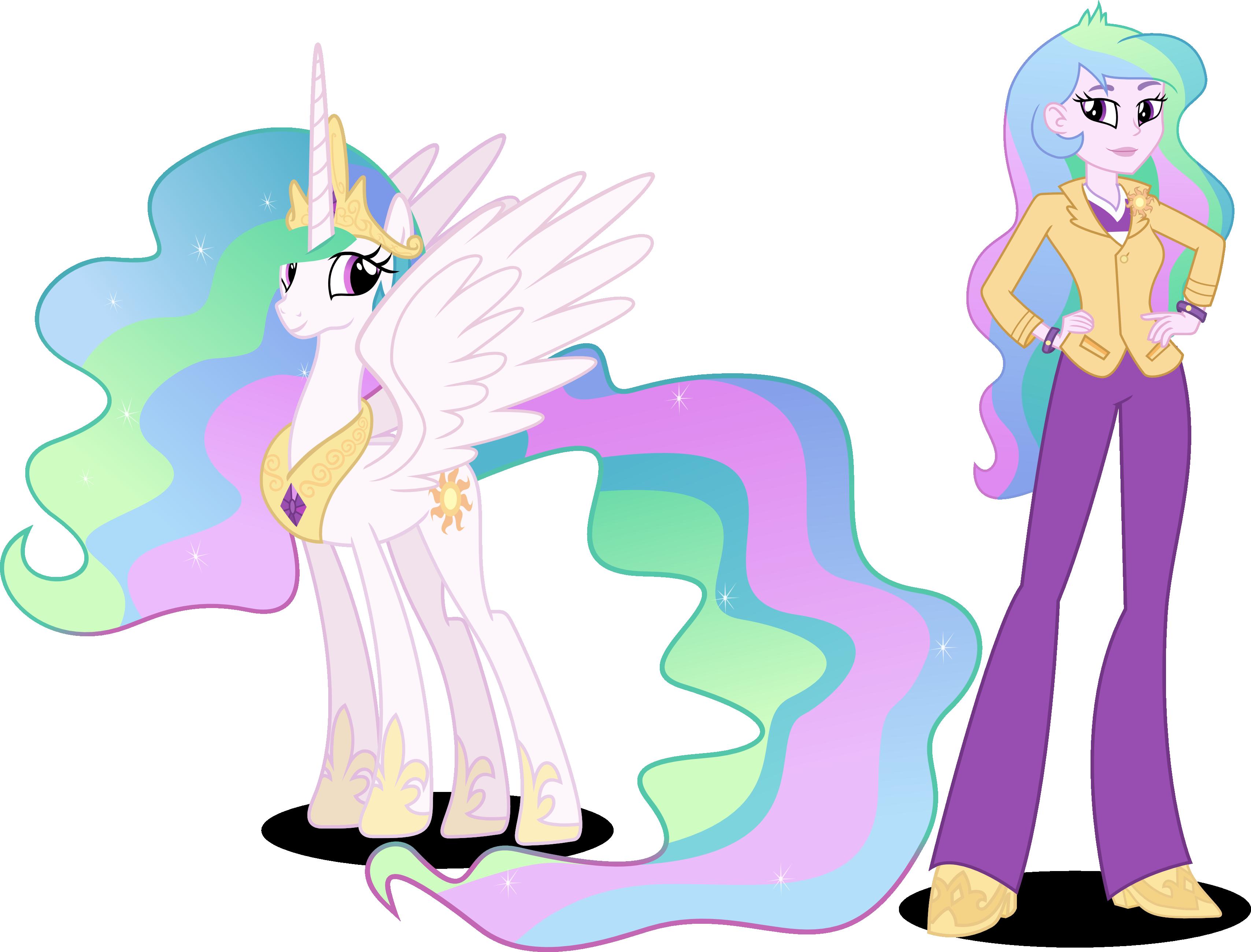 My Little Pony Equestria Girls Through the Mirror Principal Celestia DRESS
