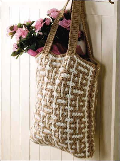 Free Mosaic Crochet Tote Pattern Places To Visit Pinterest