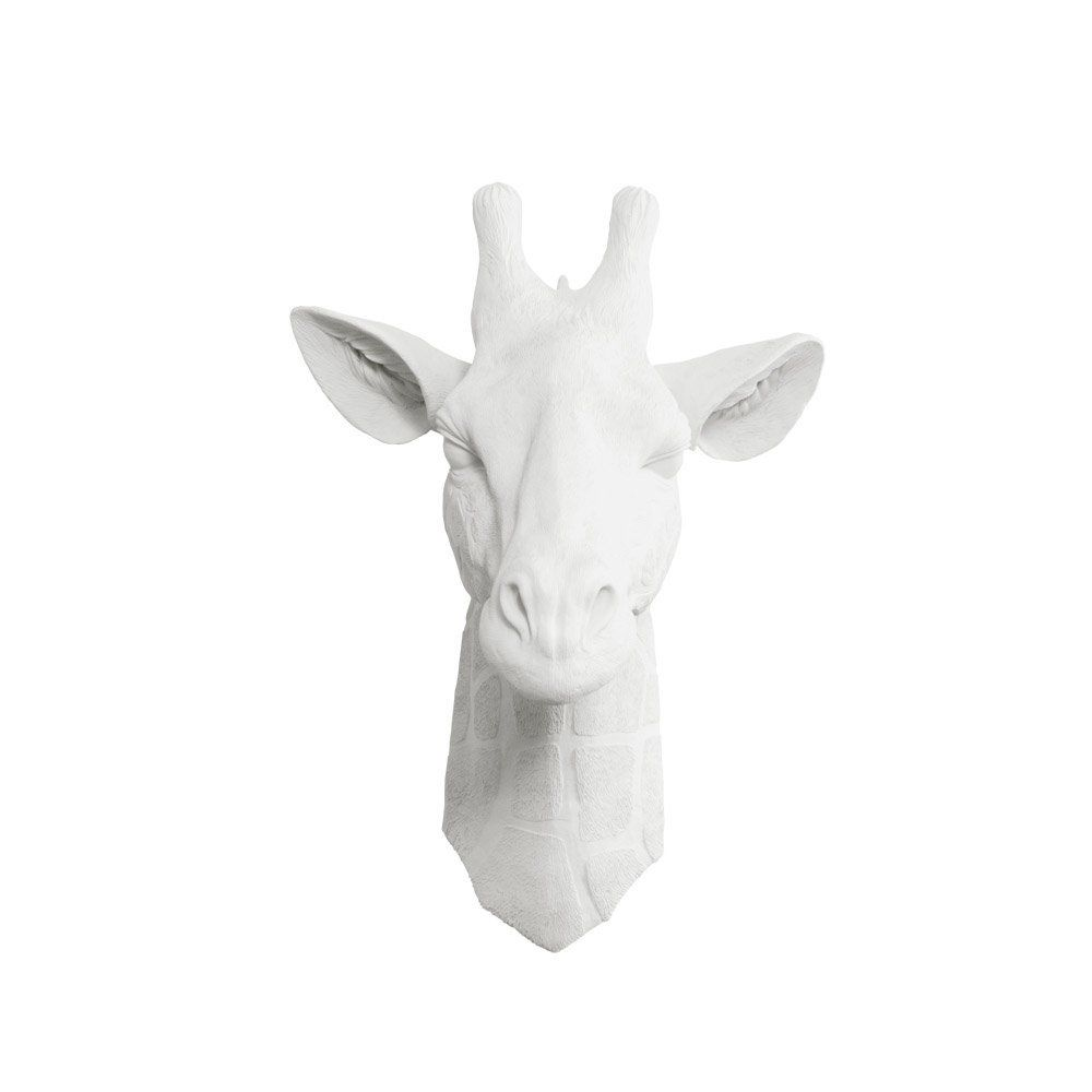 Faux Giraffe Head By Wall Charmers White Fake Ceramic Animal Decorative Resin Mounted Taxidermy Mount Decor Re Antler Art Fauxidermy Giraffe Head